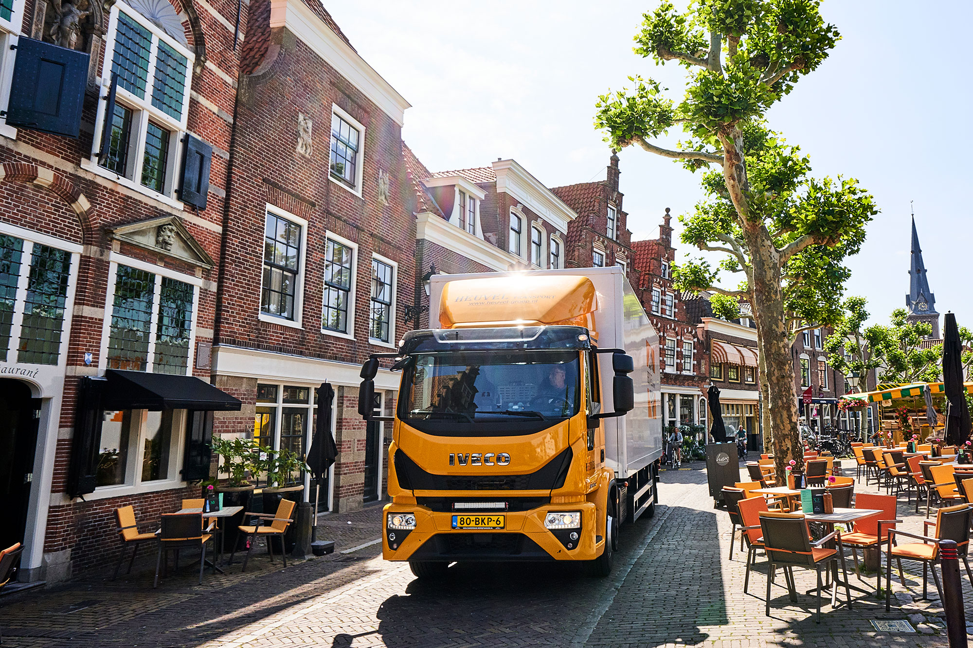 oudewater heuvel transport stad